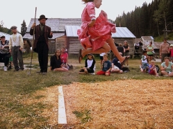 Barkerville Long Jump - photo by James Douglas