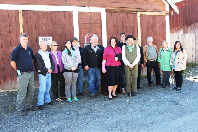 Barkerville Heritage Trust Board with Reserve Collection Storage Donors